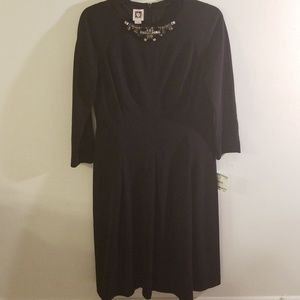 ANNE KLEIN SHEATH COCKTAIL DRESS EMBELLISHED NWT